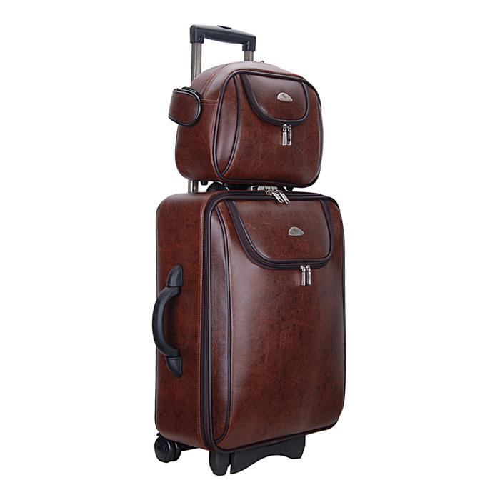 Wholesale Sport Bag Suitcase Women And Men Two Boxes Pu Leather
