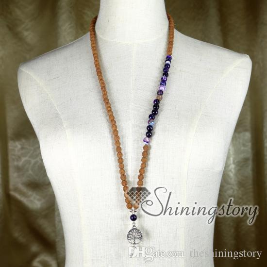 108 mala tallone collana buddista preghiera perline perline meditazione buddista rosario gioielli yoga spirituale yogi gioielli guarigione