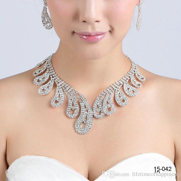 2016 New Jewelry Necklace Earring Set Cheap Wedding Bridal Prom