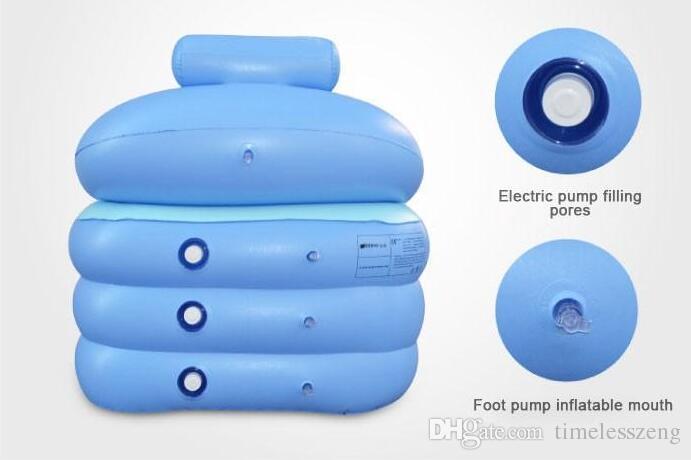 Hot Sale Adult folding SPA bathtub bath bucket Portable inflatable bathtub inflatable bath tub piscina foot Pump