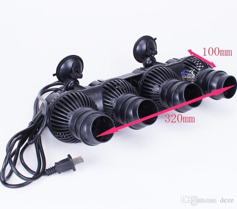 SUNSUN JVP-402 48W 24000L / h Grande acquario Fish tank POMPA ACQUA WAVE MAKER Pompa circolazione Powermaker Wavemaker con cassa di aspirazione / magnete