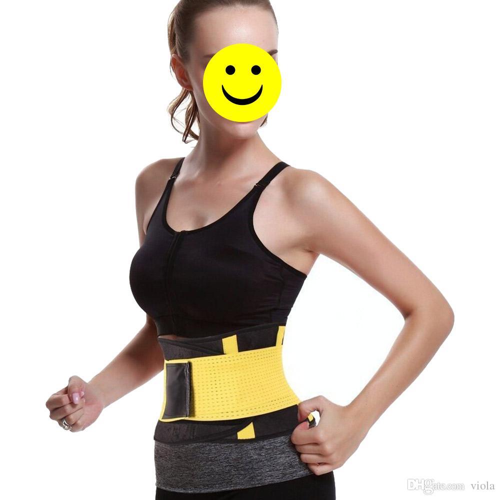 Cinturón de la aptitud de las mujeres Cincher Cintura Trimmer Corsé Ventilar Ajustable Tummy Trimmer Trainer Cinturón de pérdida de peso que adelgaza CCA7223