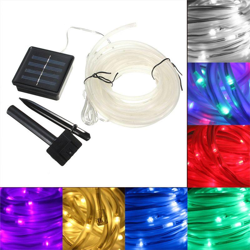 Portable Christmas Lights.7m 50leds Waterproof Solar String Light Solar Led Christmas Lighting Decoration Rope Strip Light String Lights For Garden Tree House