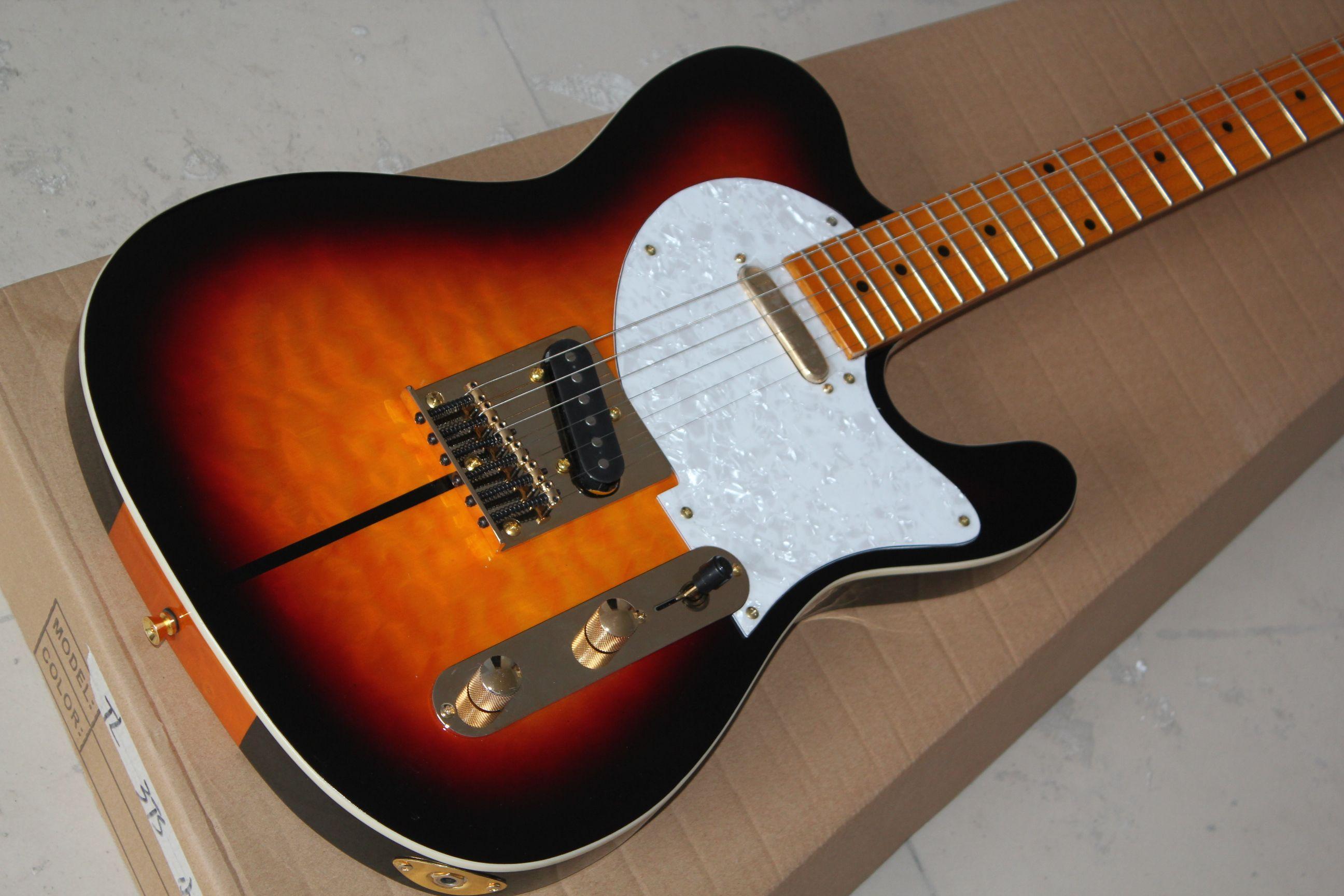 drop shipping custom shop telecaster guitar merle haggard signature tuff dog tele sunburst. Black Bedroom Furniture Sets. Home Design Ideas
