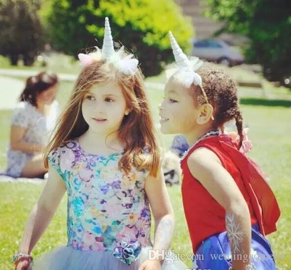 5 Designs INS Blume Krone Stirnband Mädchen Einhorn Horn Ohren Stirnband Geburtstagsfeier Geschenk Haarschmuck DIY Einhorn Party