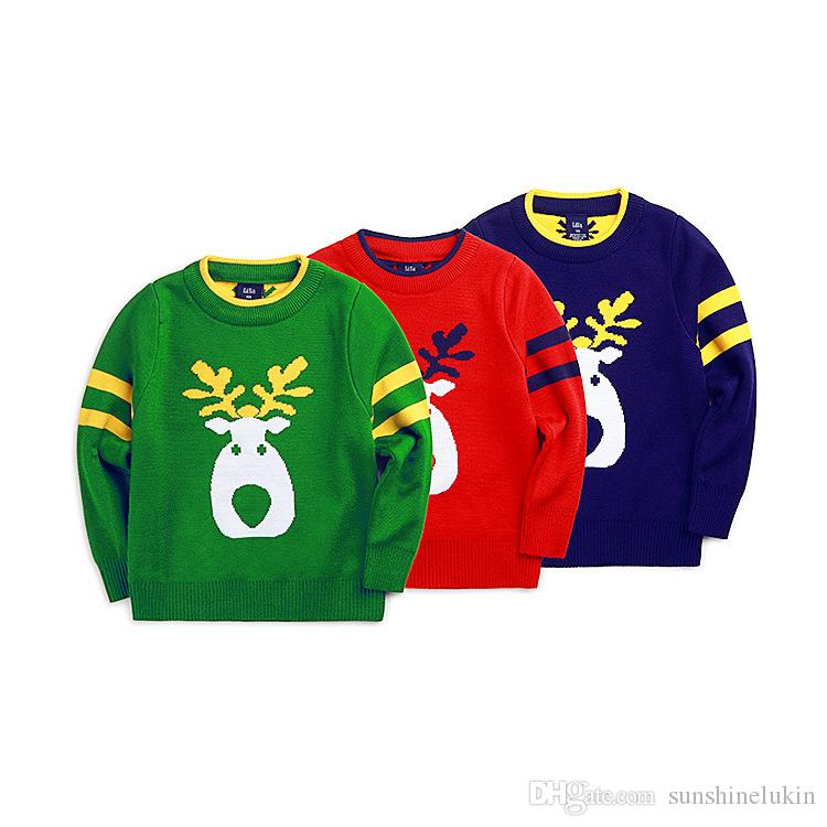 2016 New Kids Elk Sweater High Quality Cotton Made 100 140cm Child ...
