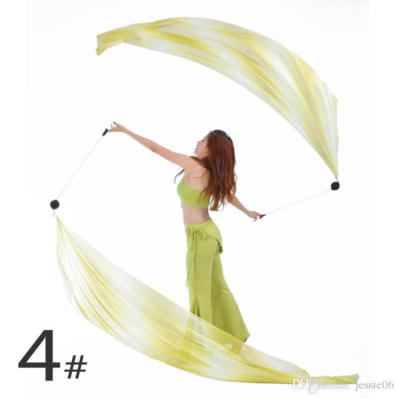 Belly Dance Veil Poi = 1Veils + 1Poi Chains Multicolour Belly dance accessories belly dance handball fabric hot