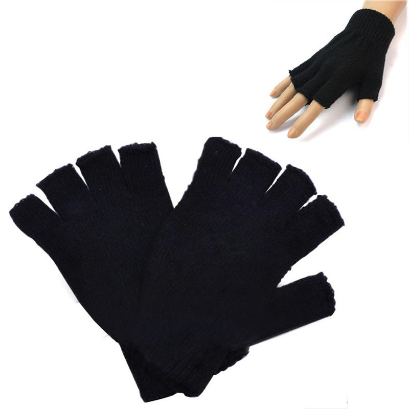 2018 Wholesale Mens Cold Winter Gift Hand Warm Knit Fingerless