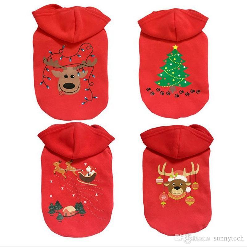 Yüksek kaliteli Pet Yavru Köpek Noel Giysileri Kostüm Dış Giyim Coat Giyim Hoodie Pet Köpekler Için Küçük Köpek F20171839