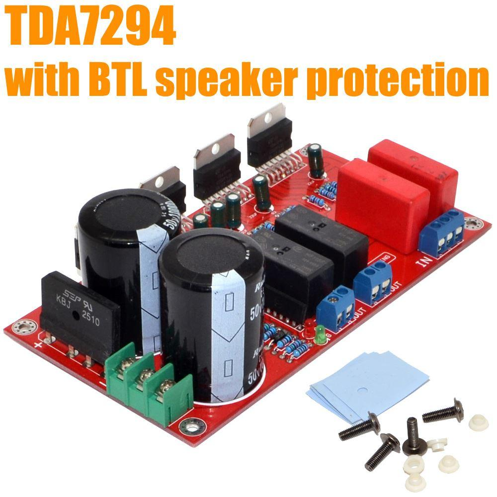 L Ampli Tda7294 5 T Audio Amplifier Transistors Bd908 Bd907 18w Hifi Xtronic Brand New Btl Power Amp Board 150w With Speaker Protection Home Speakers Lightning From Huanyin 4313 Dhgatecom