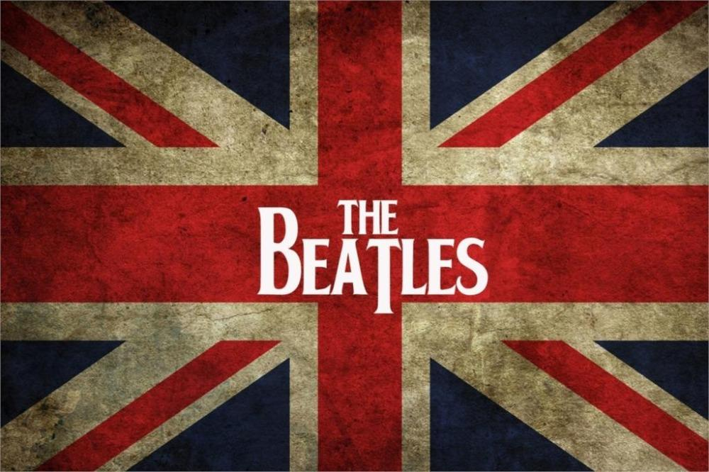United Kingdom Liverpool Rock Band The Beatles Flag Logo Fabric Cloth Wall Art Silk Poster 24x36 Inch Customized Decals Damask From Cyman