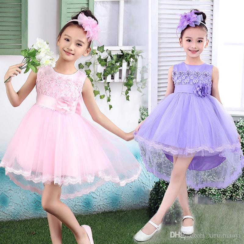 ac50d3385 Flower Girls Dresses For Weddings Baby Party Frocks Sexy Children ...