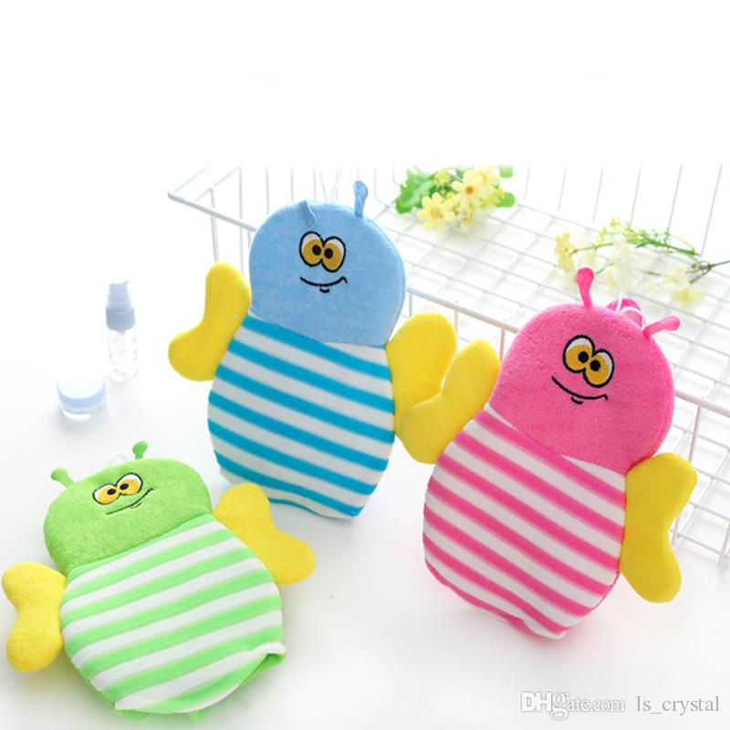 2018 Children Favor Bee Fish Puff Bathing Sponge Bathing Brush Glvoe ...