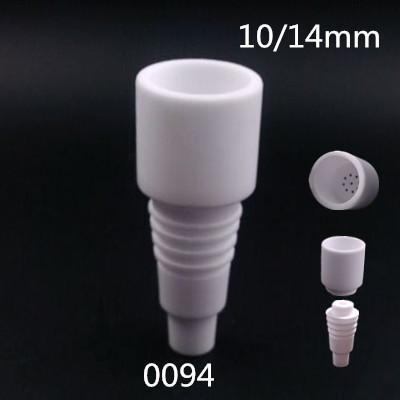 Venta al por mayor de Alta calidad 14mm 18mm uñas de cerámica sin dometría Macho Femenino conjunto Cápsula de carbohidratos de ceramica cerámica clavo VS uñas de titanio clavo de cuarzo