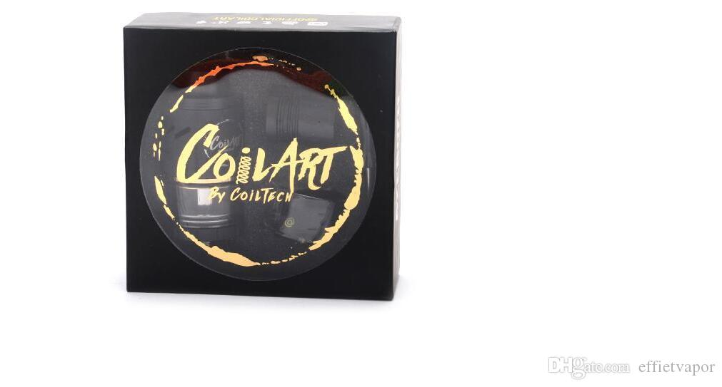 Coilart Azeroth RDTA Clone 24mm diameter Gold plated clamps Adjustable airflow 510 drip tip adapter Rebuildable Tank Atomizer DHL free