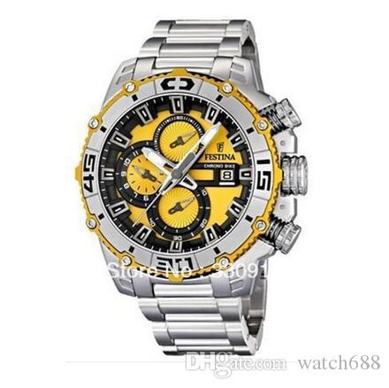 060df0922 Festina F16599/5 F16599-5 Men's Quartz Watches Tour de France Chrono Bike  Fashion Sports Style Chronograph White Dial Stainless Steel Band