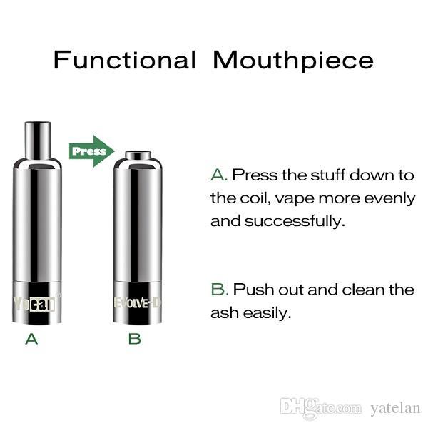 Authentic Yocan Evolve D Kit 650mAh Dry Herb Vaporizer Best Starter Kit Use Pancake Dual Coil Vape Pen E cigarette Kits