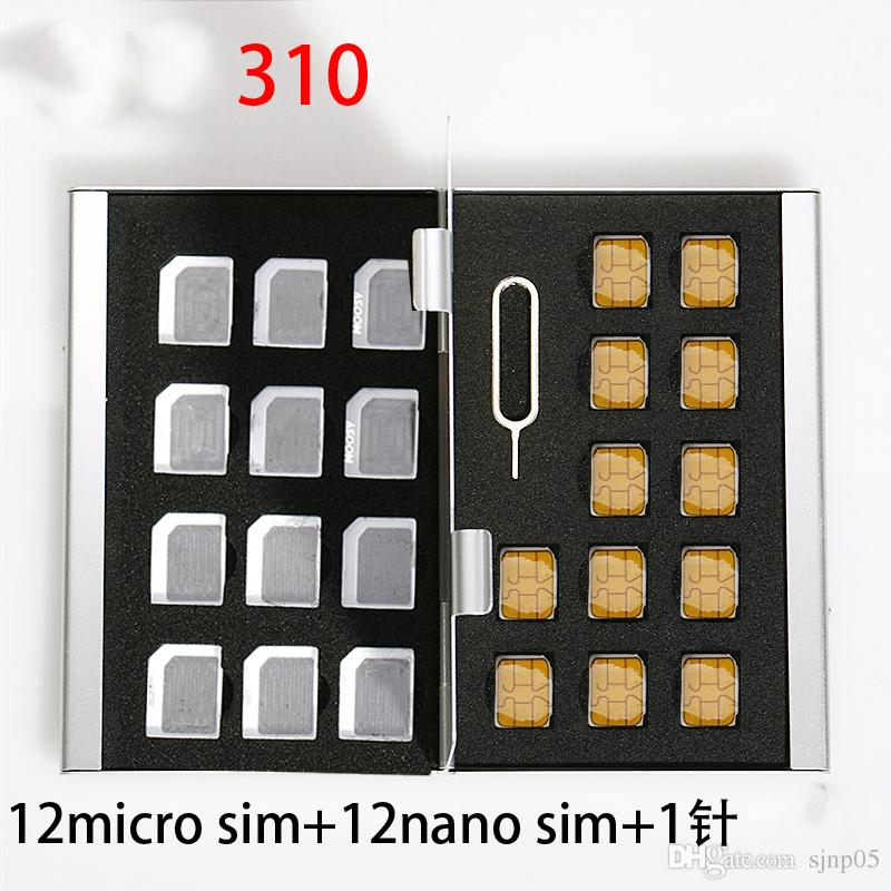 Wholesale Aluminum Memory Card Storage Case Box Holders Sliver for Micro Sim Card Nano Sim Card SD TF CF PSV Cards Protector Holder Case