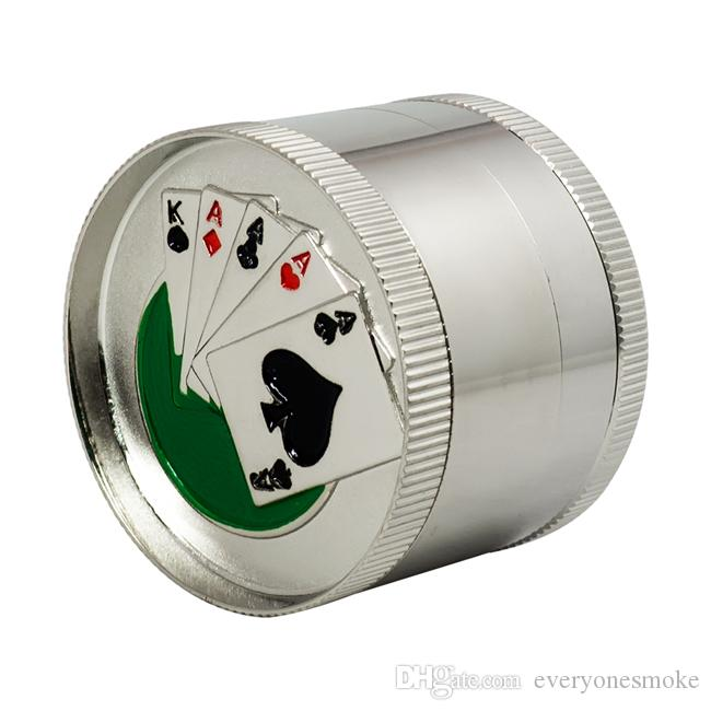 Four Layers Grinders, Zinc Alloy/Metal Grinder with Pollen Catcher for Spice, Random Pictures,