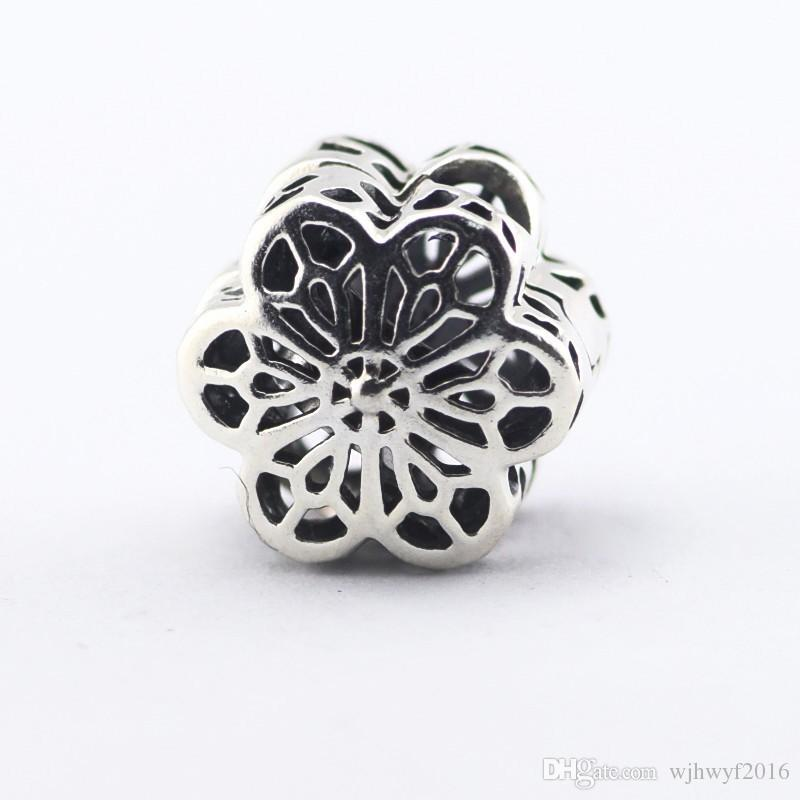 628ed06aa 2019 Floral Daisy Lace Clip Charms Beads 925 Sterling Silver Jewelry Flower  Stopper Lock Bead DIY Brand Charm Bracelets Accessories HB634 From  Wjhwyf2016, ...