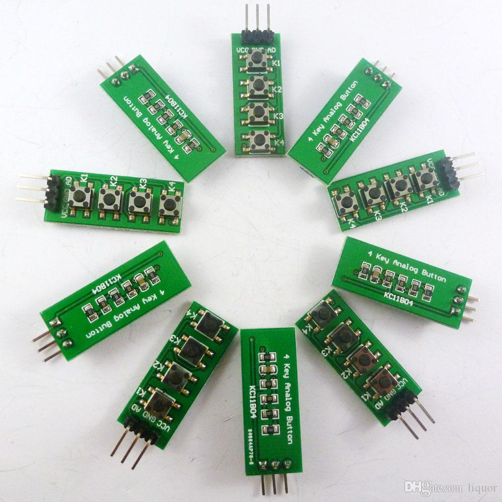 Audio & Video Replacement Parts United Keypad 4 Button Key Module Switch Keyboard For Uno Mega2560 Breadboard For Arduino Consumer Electronics