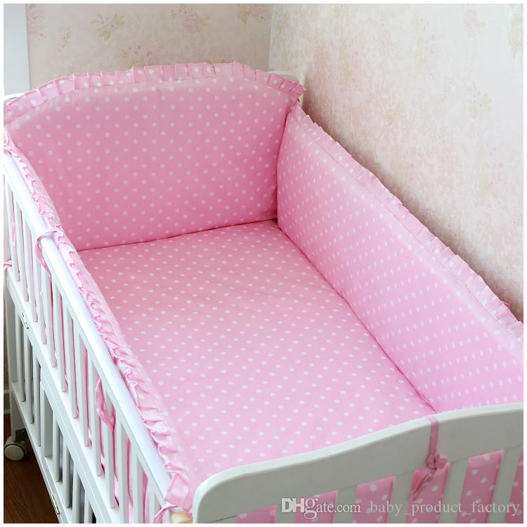 Promotion! Newborn Baby Bedding Sets For The Cribs With Sheet Baby Bumpers 100% Cotton bumpers+sheet+pillow cover