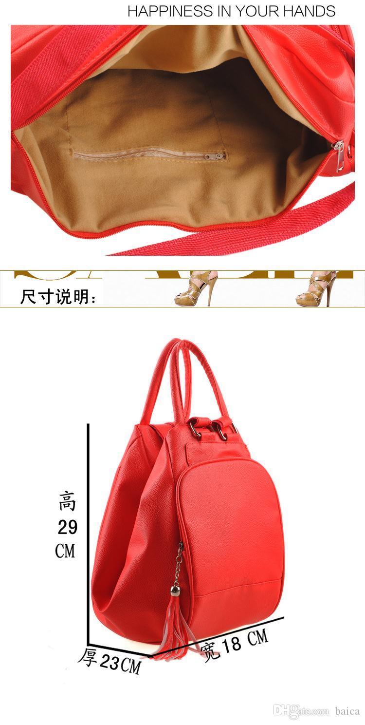 bolso de las mujeres 2016 verano nuevas mochilas de cuero naranja bandolera casual bolso multifuncional mujeres mochilas