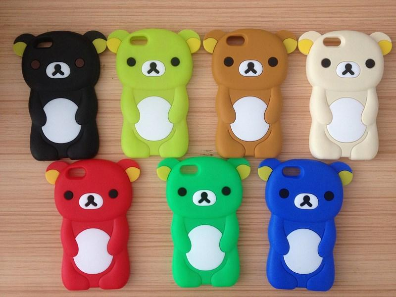 3D Cute Cartoon Animal Design Brown Teedy Bear Soft Silicone Case for Iphone 7 7 Plus 6 6 Plus 5 5S 5C 4S