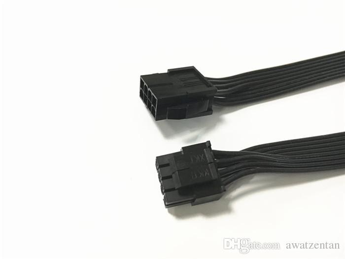 Cina all'ingrosso ATX EPS CPU 8 pin femmina a maschio 4 + pin 18AWG alimentazione PSU cavo a nastro / cavo 60CM 18AWG con colore nero