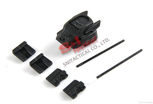 5mW 미니 권총 적외선 레이저 시력 적외선 레이저 포인터 탑재 소총 범위 용 20mm 레일 블랙 / 짙은 지구