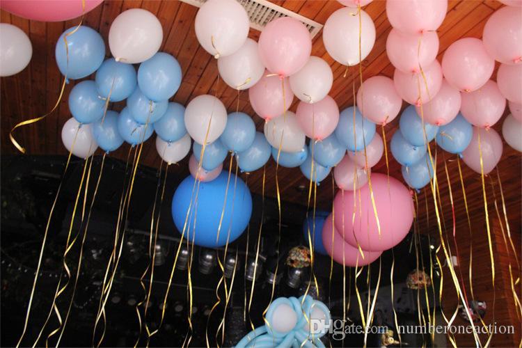 Novo 6 pçs / set 10 m 5mm Rolo De Fita Balão Presentes DIY Artesanato Folha de Ondulação Decoração de Festa de Aniversário de Casamento Crianças Suprimentos