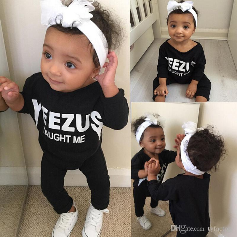 2016 Trendy Baby Rompers Yeezus Taught Me Funny Letters ...