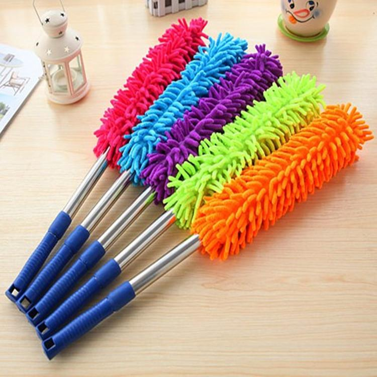 Superfine fiber dust cleaning duster duster with chenille ESP household car duster