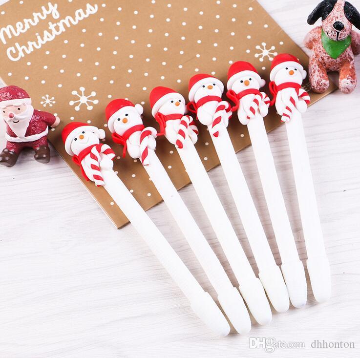 Le nouveau stylo de Noël en pâte à modeler en terre cuite fournit aux enfants un cadeau de Noël avec un stylo à bille à deux styles beaucoup de couleurs très pratique