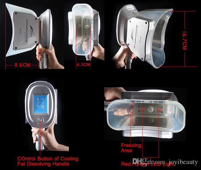 Piezas de mano populares de Cryolipolysis Tamaño 100 y tamaño 150 y Manijas de Cryo del tamaño 200 para la máquina gorda de la congelación
