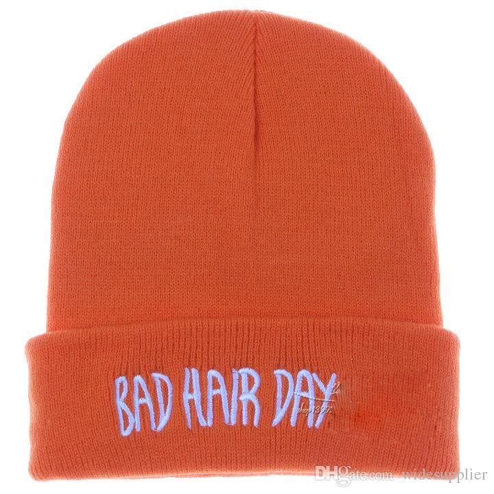 Burst Beaines Breaking hair Bad Hair Day wool hats hiphop hats Korean hip hop hat knitted hat men and women autumn and winter hat