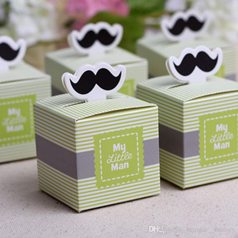 50pcs Mustache Candy Box My Little Man Baby Tie Baby Shower Boy Birthday Party Chocolate Box Unique And Beautiful Design