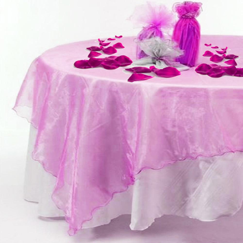 Organza table cloth square tablecloths wedding party home table organza table cloth square tablecloths wedding party home table decoration home textiles 72 x 72in fall tablecloths table linens for less from ourwarmdh junglespirit Gallery