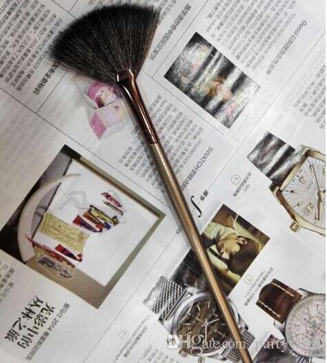 Escova de maquiagem escova de cosméticos-Single Brown Fan Brush 120 pçs / lote