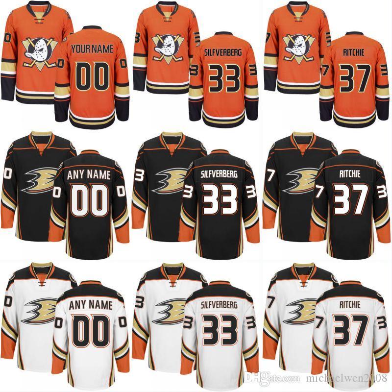 online store c480f 53fc5 Anaheim Ducks Jersey 67 Rickard Rakell 50 Antoine Vermette 22 Dennis  Rasmussen 37 Nick Ritchie Mens Womens Youth Custom Hockey Jerseys Cheap