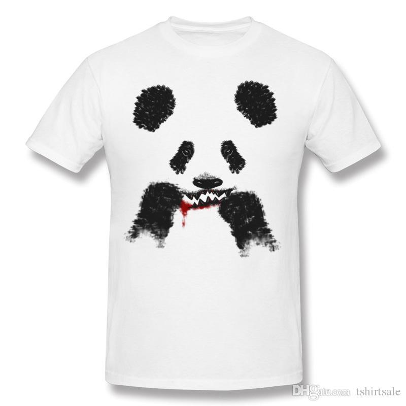 Casual Panda Camisetas Imprimir Blanco Oso Compre De Mens Lucha MpqUVLzGS
