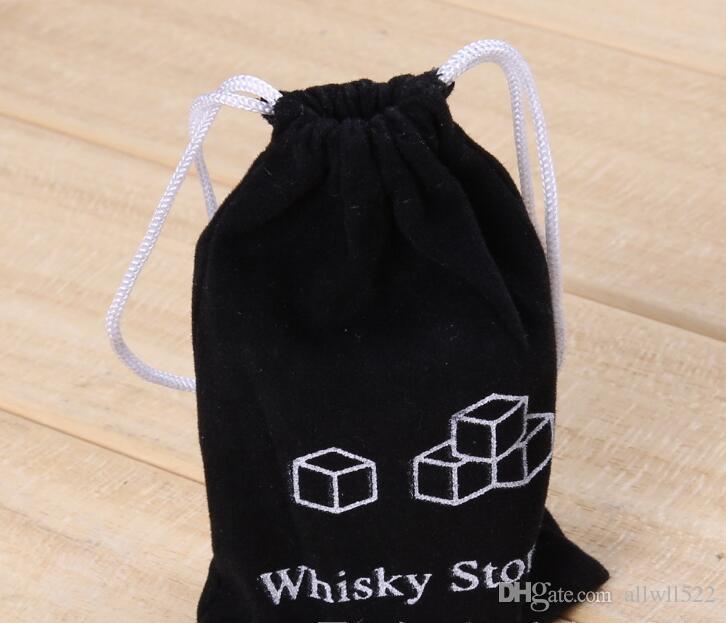 2017 Küchenhelfer stein würfel Form Edelstahl Whiskey Eiswürfel Kühler Stein Wein Bier Kühlschale Mold Eisform 6 partikel