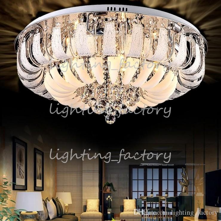 Modern Round Crystal Chandeliers Minimalist Ceiling Lamp E14 Led Glass  Chandelier Hang Lights Living Room Bedroom Decoration Wholesale Chandeliers  Led ... Part 89