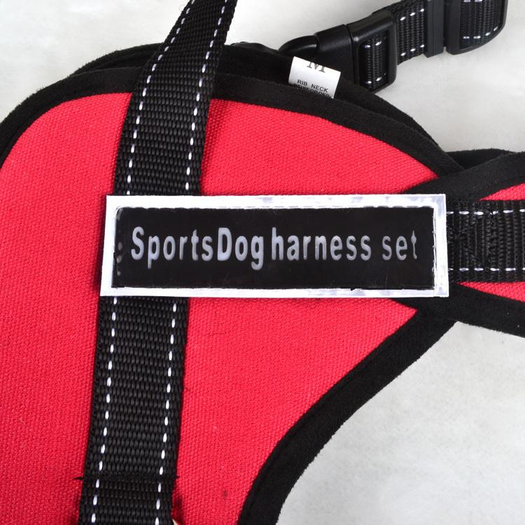 XS-XXL Large Dog Vest Harness Morbido Imbottito Ajustable Sport Training Training Cinghie pettorali Cani Collari Nylon Pitbull