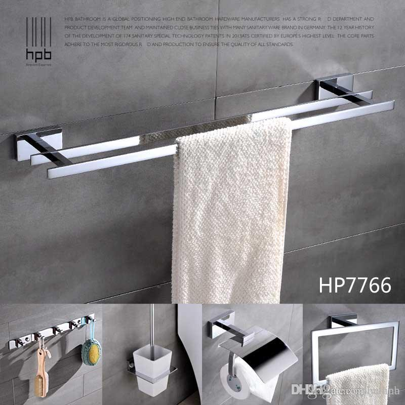Best Quality Han Pai Brass Luxury Bathroom Accessories Wall Mounted Towel  Rack Ring Holder Wall Hanger Acessorios De Banheiro Set Hp7766 At Cheap  Price, ...