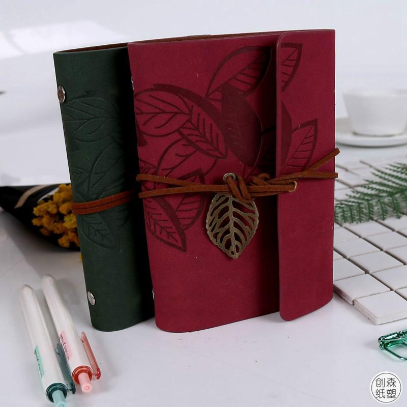 Taşınabilir Dizüstü Yaratıcı Not Defteri Ile Klasik Seyahat Günlüğü Yaprak Bueatiful Hatıra Için Gevşek Sac Vintage Hediye Öğrenci Renkli