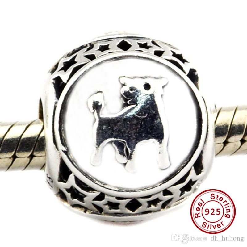 1a5d9d6d1 2019 Taurus Star Sign Charm 100% 925 Sterling Silver Bead Fit Pandora  Fashion Jewelry DIY Charm Brand From Dh_huhong, $12.18   DHgate.Com