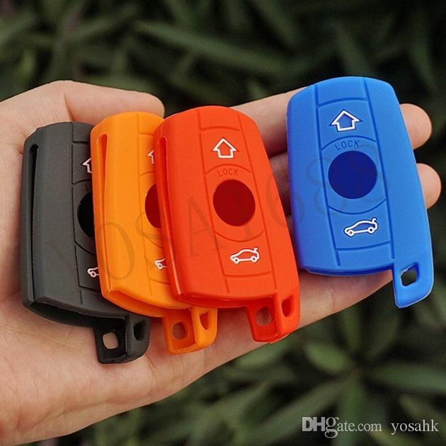 Silicon Rubber Key Fob Skin Case Sticker Protect Cover Holder For