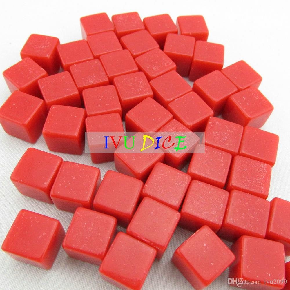 20pcs 12MM teaching blank dice Red clear special game party machine Solid color Children dices bosons IVU