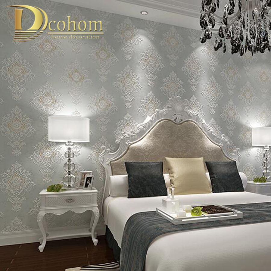 Vintage European Beige Brown Grey 3d Room